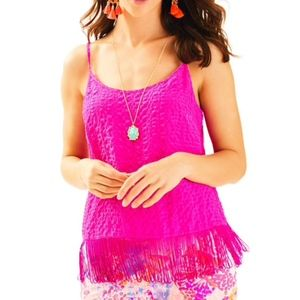 Lilly Pulitzer NAEEM Berry Sangria blouse top
